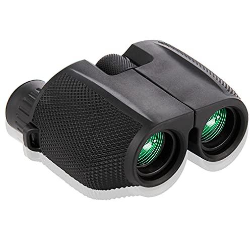 Binocolo 10x25, Mini Binocolo Compatto Potente con Luce Bassa Visione Notturna per Bambini Adulti, Binocoli Professionali Impermeabile per Campeggio Caccia Viaggio Escursionismo Sportivi Concerti