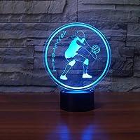 子供用ナイトライト3DイリュージョンランプムードランプLEDリモコン付き3Dランプ16色変更アクリルシートクラックベースベッドサイドランプ男の子向けホリデーギフトクリスマスバースデーギフト
