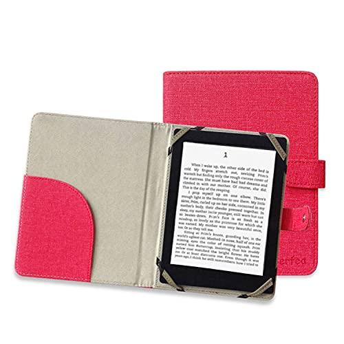 Cover universale per eReader 266.73 pollici per Sony Tolino Kobo BQ Ebook Reader (6 pollici, rosso)