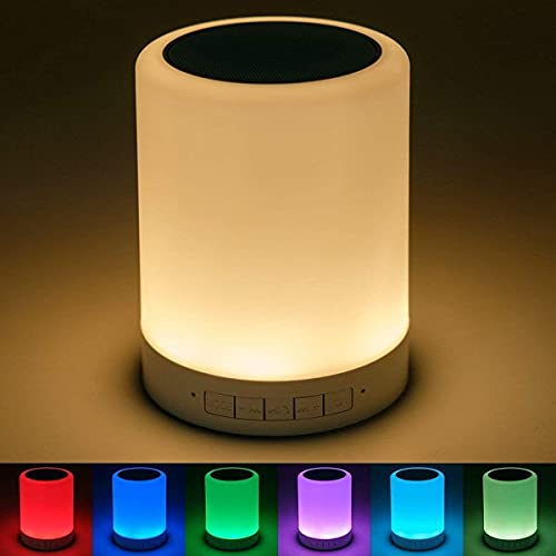 Wireless Speaker Touch Lamp For iPhone 5s Ultra Boost Bass with DJ Sound Portable Home Speaker with Audio Line in TV Supported,USB,FM,TF Card and AUX Cable Supported Waterproof Night Light LED One Touch Lamp Speaker with Portable Bluetooth & HiFi Speaker with Smart Colour Changing Touch Control, USB Rechargeable (Multicolor)