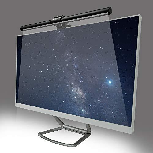 DRAKEFYRE - Barra luminosa para monitor de ordenador, LED alimentada por USB, 3 modos de iluminación ajustables, lámpara de escritorio con pantalla inteligente, 40 cm