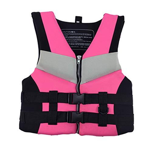 SXZSB Chaleco Salvavidas, Chaqueta De Baño para Adultos Chaleco De Flotabilidad 50N para Canoa, Kayak, Vela Y Otros Deportes Acuáticos,Rojo,S