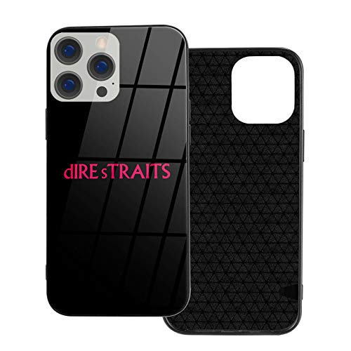 HPOFKEOEF Dire Straits Logo Personality iPhone 12 Series Glass Phone Case Shockproof Protective Cover Ip12 Pro-6.1