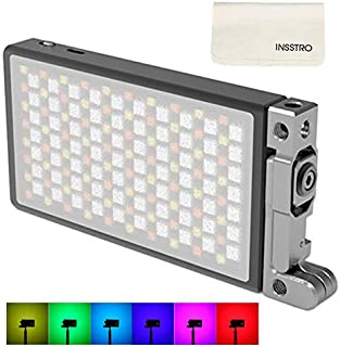 BOLING BL-P1 RGB LED Full Color Light for Camera Camcorder, Rechargeable Pocket Size Video Light with 2500k-8500k Color Range, 9 Common Scenario Simulations with Premium Aluminum Alloy Shell