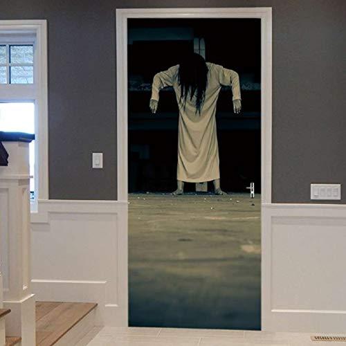 Ghosts In Washroom Horror Effect Aufkleber Scary Halloween Aufkleber Bar Wohnheim Schlafzimmer Fenster Tür Dekoration 77X200Cm