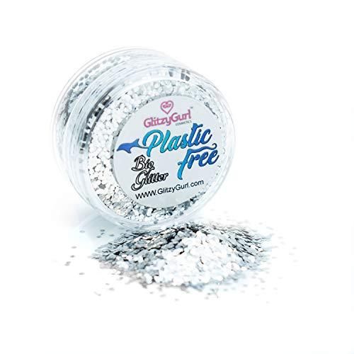 Purpurina corporal biodegradable, 100% libre de plástico, vegano, libre de crueldad, con purpurina ecológica (plata)