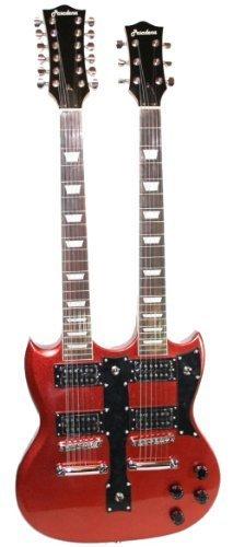 Cherrystone 4260180883121 Double Neck E-Gitarre metallisches rot