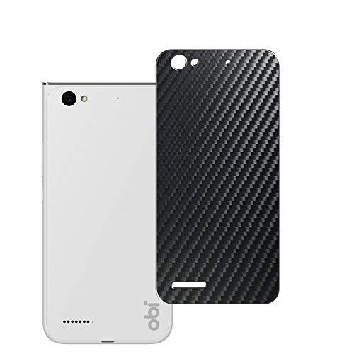 Vaxson 2 Stück Rückseite Schutzfolie, kompatibel mit Obi Worldphone MV1, Schwarz Backcover Skin Cover Haut [nicht Bildschirmschutzfolie Hülle Hülle ]