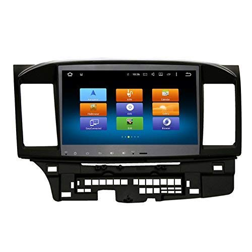 SYGAV Android Octa Core10.2 HD in-Dash Car Stereo Radio GPS Navigation for 2008 Up Mitsubishi Lancer Evo X Galant Ralliart Without OEM Rockford