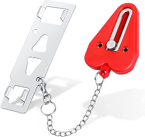 Portable Door Lock - Door Lock Latch for Additional Safety Perfect for Traveling Lockdown...