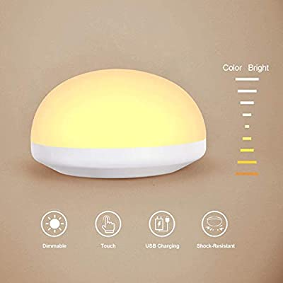 Night Light for Kids,Touch Bedside lamp,Rechargeable Wireless LED Nursery lamp for Baby Children Breastfeeding Bedroom