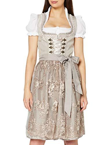 Stockerpoint Damen Dirndl Elyse Kleid für besondere Anlässe, Taupe, 48