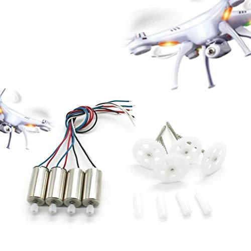 Piezas de repuesto Quadcopter 2 CW + 2 motores CCW con engranajes para SYMA X5SW X5SC X5HC X5HW RC Drone