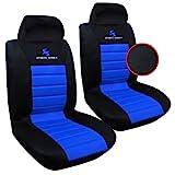 WOLTU AS7256-2 2er Sitzbezüge Auto Einzelsitzbezug universal Größe, Komplettset, blau
