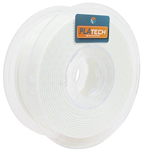 FFFworld 1 kg. PLA Tech Blanco 1.75 mm. - Filamento PLA 1.75 con bobinado de precisión Optiroll - PLA Filament