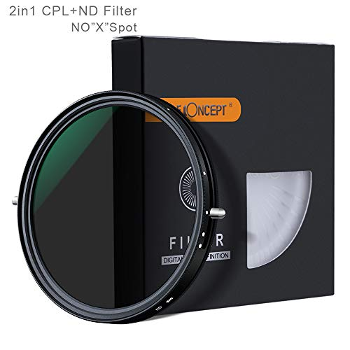 Filtro ND variable ND-ND4 ND8 ND16 a ND32 de 77MM 2-en-1 Filtro + CPL Polarizador Circular Polarizador