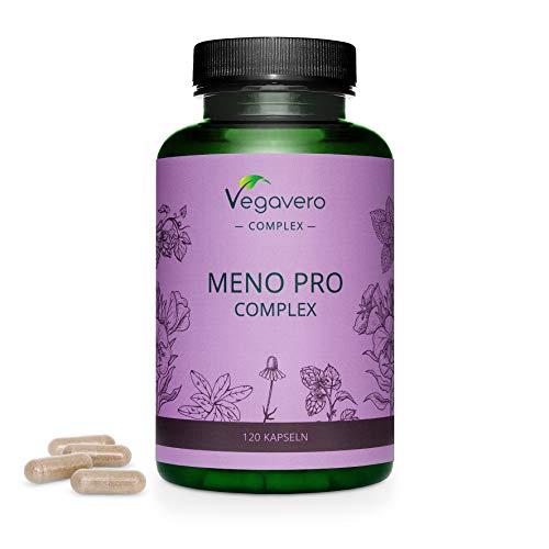 Suplemento para Menopausia Vegavero® | 100% Vegetal & Sin Aditivos | Sin Hormonas | Con Lúpulo + Aceite de Onagra + Salvia + Manzanilla + Melisa + Linaza | 120 Cápsulas | Apto para Veganos