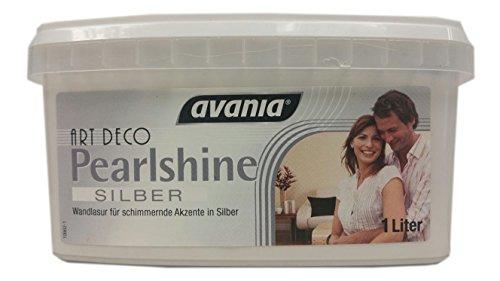 Avania Pearlshine Effekt-Design Schimmernde Akzente Wandlasur Pearlshine Silber 1 Liter
