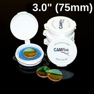 CAMFive Laser 3.0 Inch (75mm) Focal Lens - Laser Optic Length ZnSe Meniscus Focus 20 mm Diameter Lenses Made in The USA