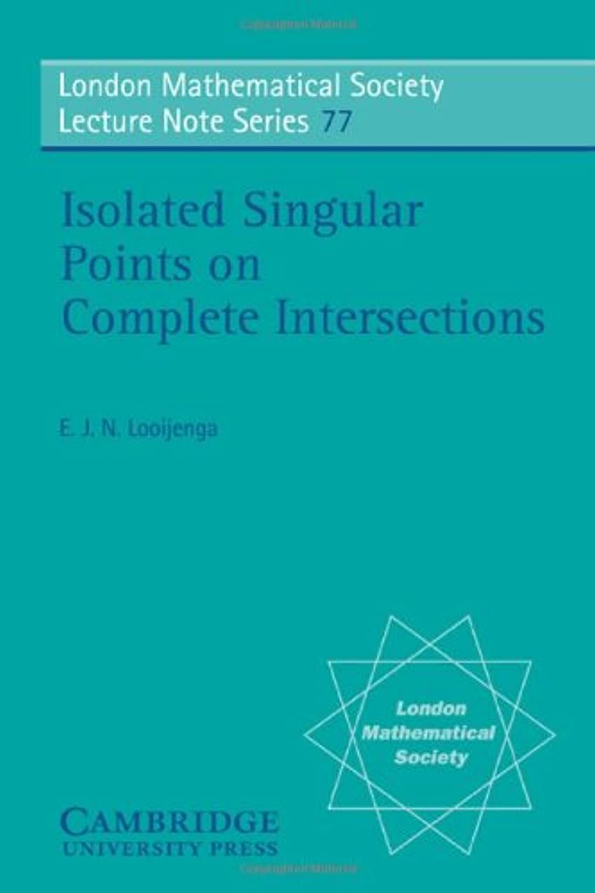 パンサーレザーカフェIsolated Singular Points on Complete Intersections (London Mathematical Society Lecture Note Series)