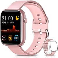 BANLVS Smartwatch, Reloj Inteligente Mujer Hombre con Correa Repuesta, Smartwatch Impermeable IP67 con Monitor de Sueño...
