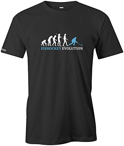 Jayess Eishockey Evolution - Herren - T-Shirt in Schwarz by Gr. L