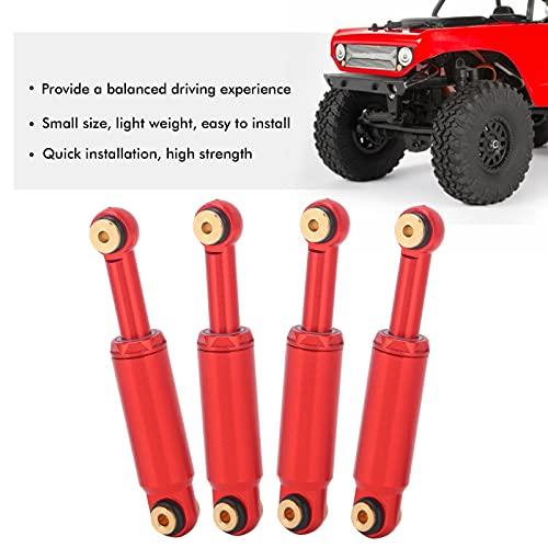 4-teiliger RC-Car-Stoßdämpfer, Leichter Öl-Stoßdämpfer-Dämpfer RC-Upgrade-Teile für Axiales SCX24 90081 1/24 RC-Raupenauto(rot)