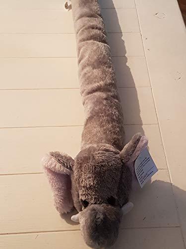 Türvorleger Zugluftstopper Windstopper Türabdichtung Plüsch (Elefant grau)