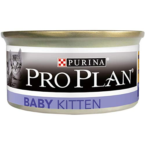 Nestlé Purina Pro Plan Comida para Gato pienso para Gato Lata Tartalette Baby Kitten Rico en Pollo 85 g - Pack de 24 ✅
