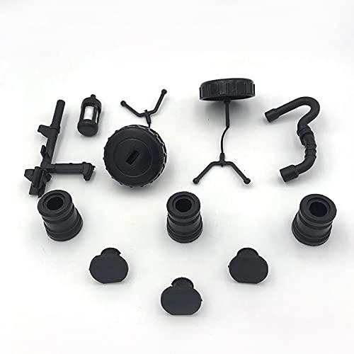 FBUWX Tapa del Tanque de Aceite y Combustible de Gasolina, Filtro de Combustible, Manguera, Tapa amortiguadora, Kit de Eje de Interruptor para Piezas de Motosierra STIHL MS180 MS170 017018 Eficiente
