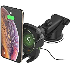 iOttie Wireless Car Charger Auto Sense Qi Charging Automatic Clamping Dashboard Phone Mount
