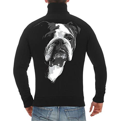 dog like a boss Männer und Herren Sweatjacke Englische Bulldogge (mit Rückendruck) Größe S - 10XL