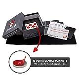 S-Mag Portatarga magnetico senza cornice, supporto per targa auto, portatarga invisibile con magnete al neodimio, targa auto