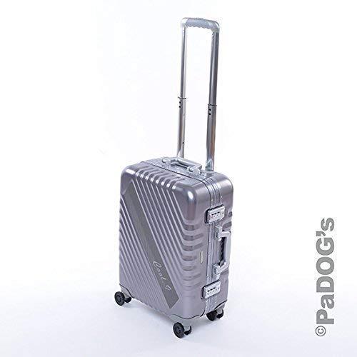 Cool-9 Aluminium-Reisekoffer/Boardtrolly dunkel grau S, 36 Liter Volumen, mit TSA Zahlenschloss, Teleskopgriff, 4 Leichtlaufdoppelrollen, edles Design aus Aluminium