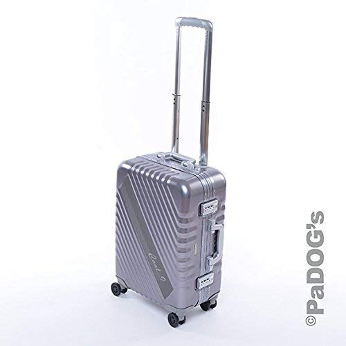 Bontoy cool-9 Aluminium-Reisekoffer/Boardtrolly dunkel grau S, 36 Liter, mit TSA Schloß