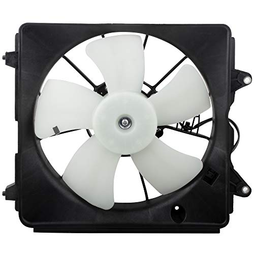 BOXI Radiator Cooling Fan Engine Motor Assembly HO3117100 Compatible with 2006 2007 2008 2009 2010 2011 Honda Civic 1.8L with 5-Speed Automatic Transmission (Replaces 19015-RNA-A01 620-253)