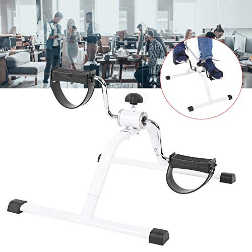 Mini Bicicleta Estática, Mini Ejercicio Magnético Multifuncional Bicicleta Mano Pedal Entrenador Anciano para el Entrenamiento de Brazos y Piernas