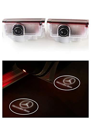 SYmbiosis 2 luces LED de bienvenida HD para puerta de coche, proyector de sombra para ceremonia fantasma con sentido de bienvenida, adecuada para Mercedes Benz