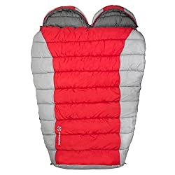 Winterial Double Mummy Sleeping Bag for Camping and Backpacking