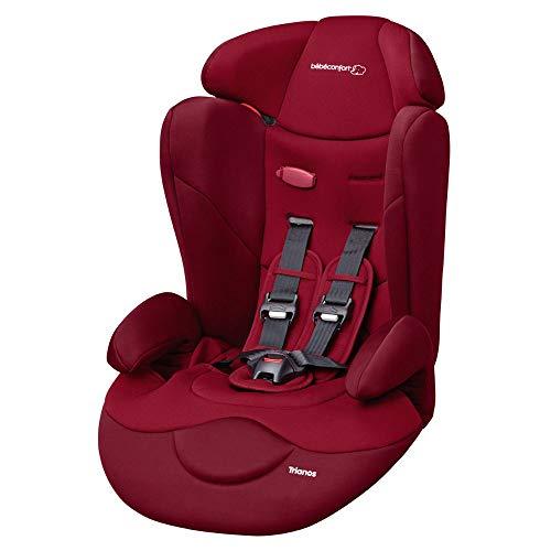 Bébé Confort Trianos Seggiolino Auto 9-36 Kg Reclinabile, Gruppo 123 Cresce con il Tuo Bambino dai 9 Mesi ai 12 Anni, Facile da Installare, Colore Raspberry Red