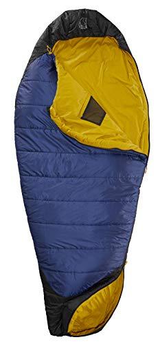 Nordisk - PUK Schlafsack, strapazierfähiges Ripstop-Außengewebe, 2-Wege-Reißverschluss, Egg-Konstruktion/Form, 4 Grad, Grösse L, Blau
