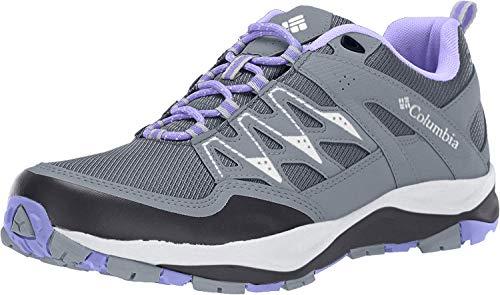 Columbia Women's Wayfinder Outdry Hiking Shoe, Waterproof & Breathable, Graphite, Fairytale, 7 Regular US