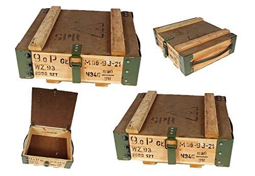 2 Stück NATO Transportkiste Holzkiste gebraucht 40,5 x 35,5 x 16,5 Werkzeugkiste Lagerkiste 20,48€/Stück