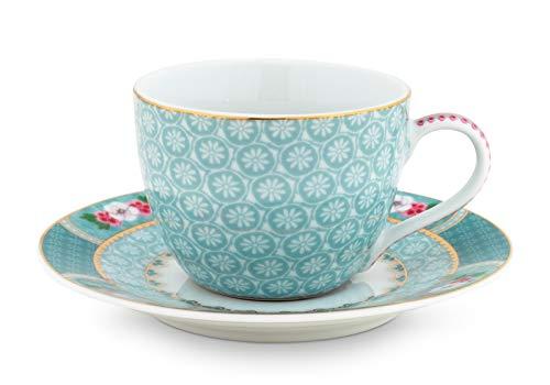 Pip Studio - Espressotasse mit Untertasse - Blushing Birds - Porzellan - blau - 2-teilig