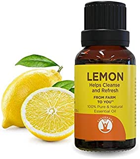 GuruNanda Lemon Essential Oil - Aromatherapy - GCMS Tested & Verified 100% Pure Essential Oils - Undiluted - Therapeutic Grade -  15 ml