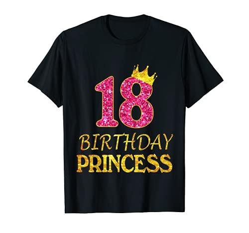 Corona 18th Birthday Princess Girl Shirt 18 años de edad Regalos Camiseta
