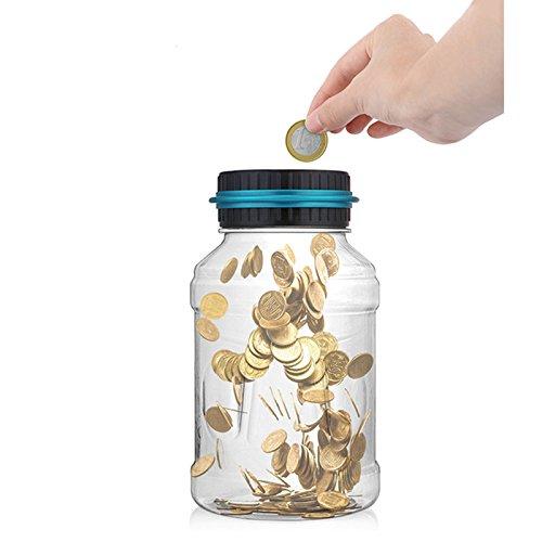 Inovey Digital Moneda Contando Dinero Tarro Banco Caja De Ahorros Pantalla Lcd Inteligente Scm Capacidad Para Regalo De Los Cabritos