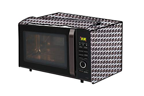 The Furnishing Tree Microwave Oven Cover for LG 28 L Convection MC2846SL Symmetric Pattern Grey