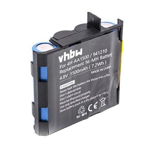 vhbw NiMH Akku 1500mAh (4.8V) für Medizintechnik wie Muskelstimulator wie Compex 4H-AA2000