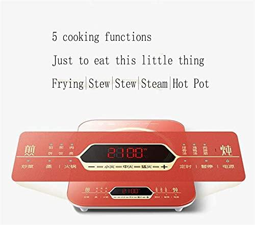 Portátil eléctrica Placa de inducción Quemador de mesa inteligente adecuado para utensilios de cocina de cocina adecuados, tales como ollas de sopa wok, olla de leche, olla 2100 (W)